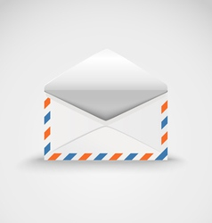 Open white envelope template ready for a content vector