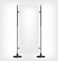 Roll up banner stand vector