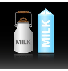 Dairy product milk in two types of bottles eps10 vector