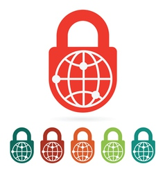 World safety web icon vector