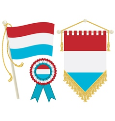 Luxembourg flags vector