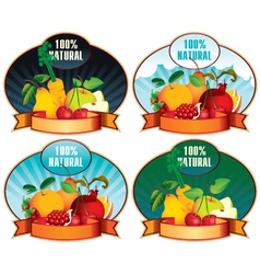 Product labels with fruit vector