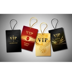 Vip tags design set vector