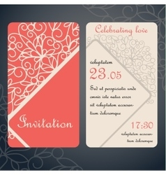 Paper decor on red vector