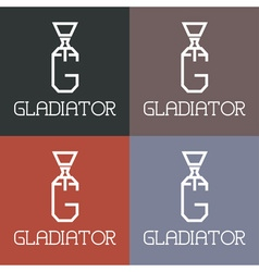 Gladiator monogram vector