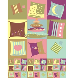 Seamless color pillow pattern vector