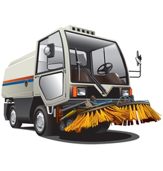 Sweeper truck vector