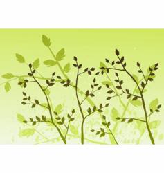 Floral background tree vector