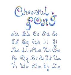 Cheerful font vector