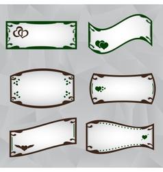 Frame border set with heart symbols eps10 vector
