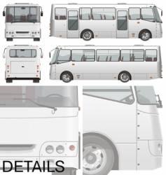 Urban passenger mini-bus vector