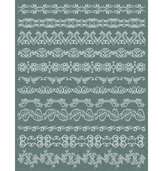 Set of lace paper with flower vector