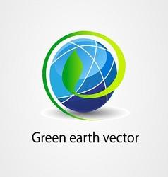 Eco green earth stock logo icon vector