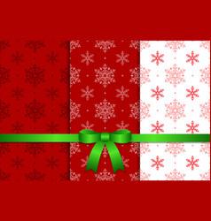 Christmas pattern and ribbon vector