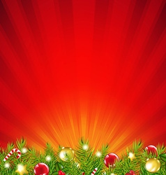 Red xmas sunburst border vector