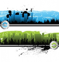 City music banners vector