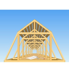 Roof of the house vector