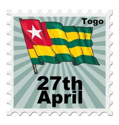 Post stamp of national day of togo vector