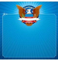 Usa poster background vector