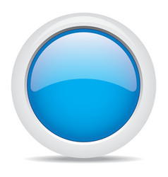 Popular blue color web button 3d vector