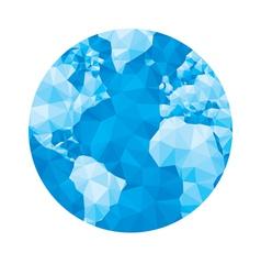 Abstract geometric globe - vector