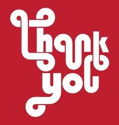 Thank you cool lettering typography vector