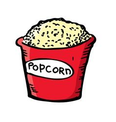Pop corn vector