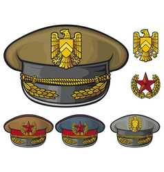 Military hats vector