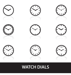 Simple watch dials icons eps10 vector