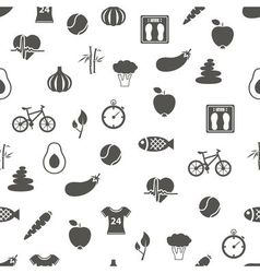 Health lifestyle seamless pattern vector