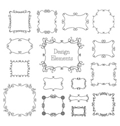 Vintage frames and decoration elements vector