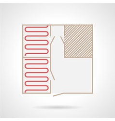 Colorful icon for underfloor heating vector