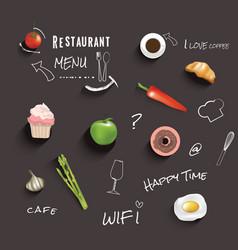 Restaurant or cafe menu design template vin vector