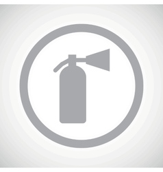 Grey fire extinguisher sign icon vector