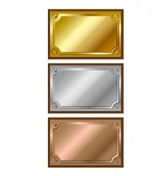 Metal plaques vector