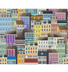 Old town pattern vector