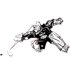 Ice hockey goalkeeper vector