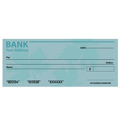 Bank check template vector