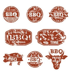 Set of bbq labels vector