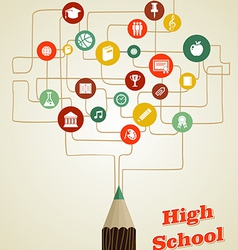 Back to school education pencil social network vector