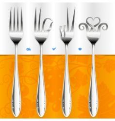 Fork gestures vector