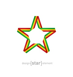 Star with flag of mali colors design element vector