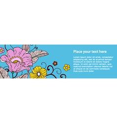 Banner flower vector