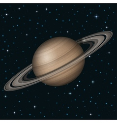 Planet saturn in space vector
