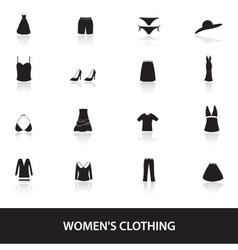 Womens clothing icons eps10 vector