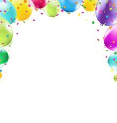 Color balloons frame vector