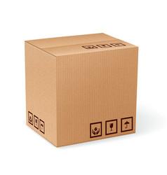Carton box isolated vector