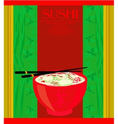 Template of asian food menu vector