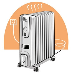 Electric oil heater vector