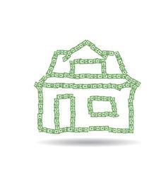 House of dollars vector